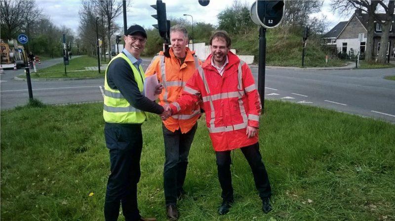 Nico van Beugen (gemeente Deventer), Luc Prinsen (Goudappel Coffeng) en Mark Veenstra (Dynniq)