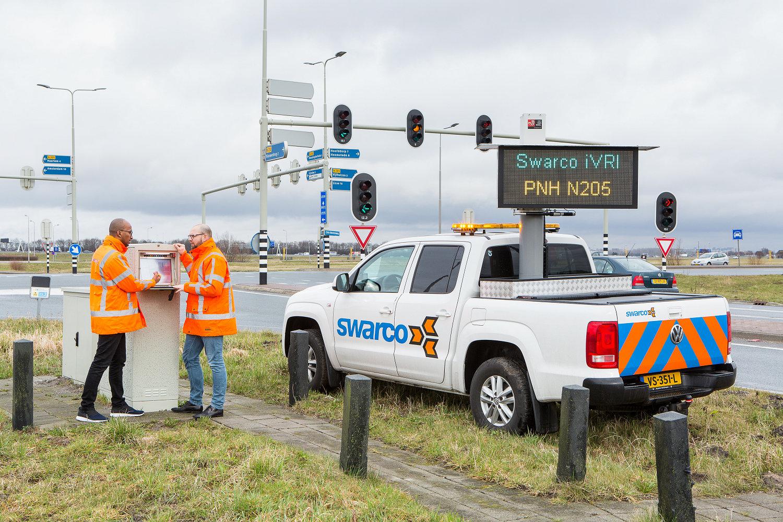 Een iVRI van Swarco op N205 in de Provincie Noord-Holland