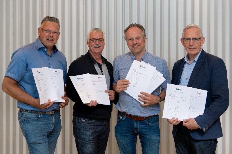 Uitreiking Ivera-certificaat aan de gecertificeerde iVRI-leveranciers